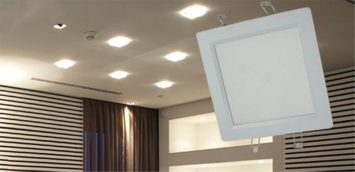 pack x 4 plafon led cuadrado 18w embutir calida bajo consumo
