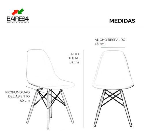 pack x 4 sillas eames de diseño vintage   contado