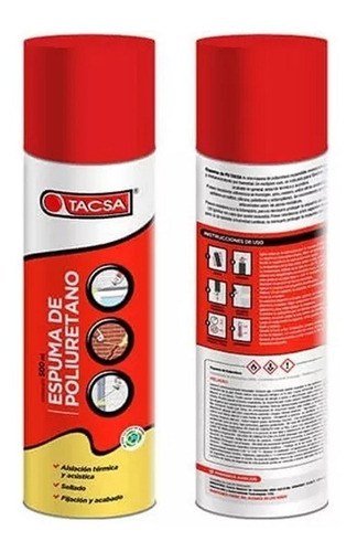 pack x 4 tacsa espuma de poliuretano expandido 500 ml