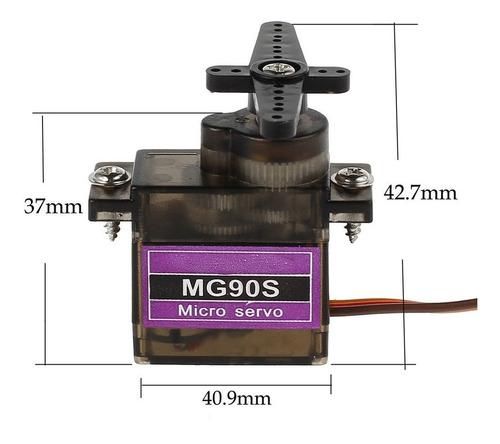 pack x 5 mini servo mg90 1.8kg  engranajes metal arduino