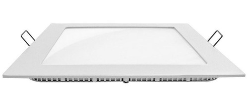 pack x 5 panel de embutir led cuadrado 18w luz fría baw