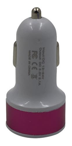 pack x 50 cargador de doble puerto usb para el auto 12-24vol