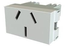 pack x 50 modulo toma 10 amp para bastidor platinum enchufe