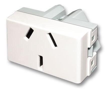 pack x 50 modulo toma 10 amp para bastidor verona enchufe