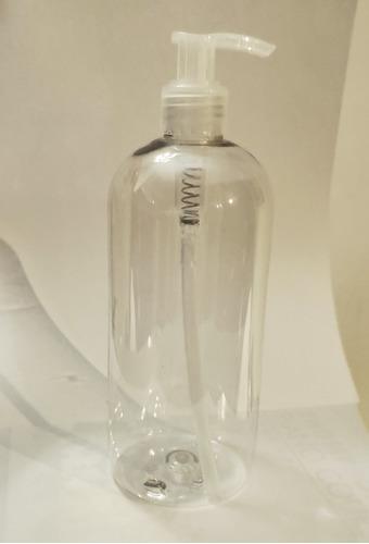 pack x 6 dispenser de alcohol en gel 500cc pet cristal