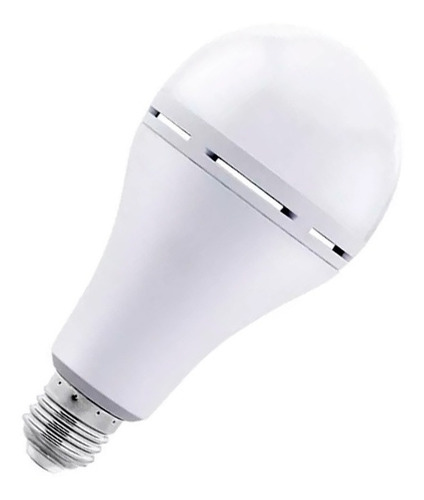 pack x 6 lampara led autonoma luz emergencia 9w 10w e27 frio