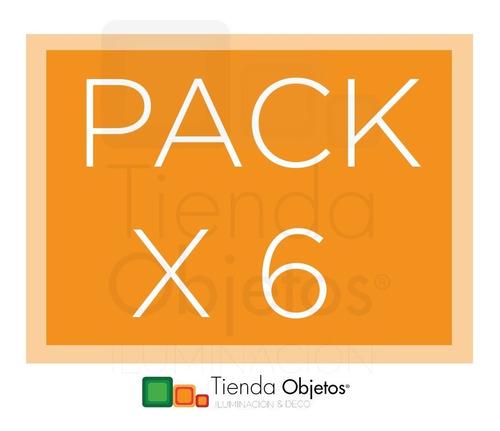 pack x 6 llave de luz 4 puntos completa brava blanco sica