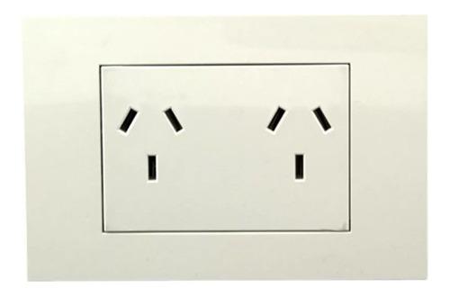 pack x 6 llave de luz toma doble completa brava blanco sica
