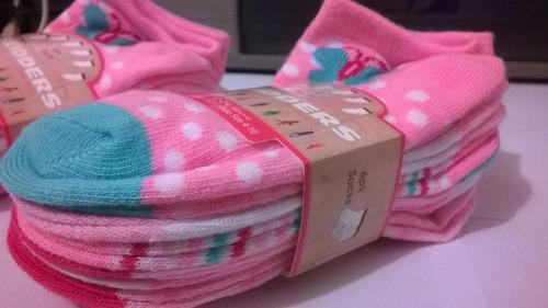 pack x 6 pares medias para niñas (de 1 a 2 años)
