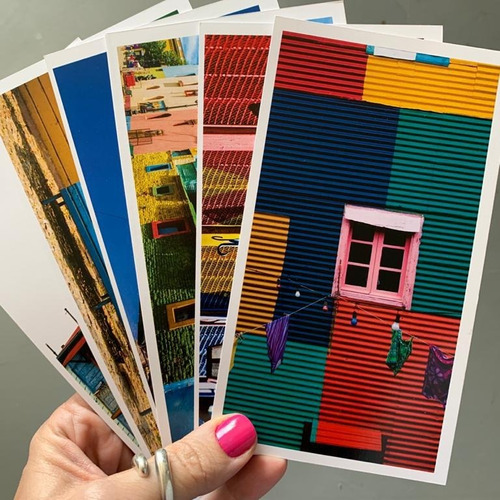 pack x 6 postales foto caminito buenos aires
