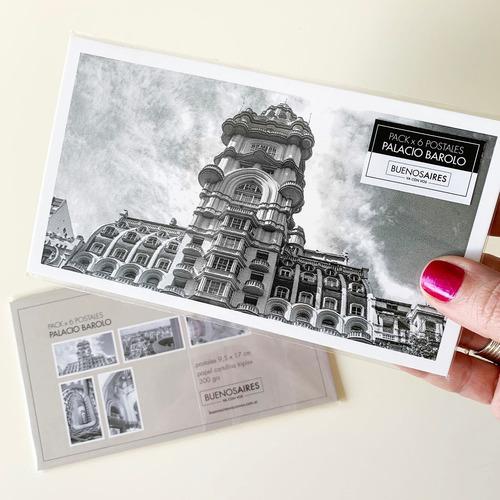 pack x 6 postales foto palacio barolo buenos aires