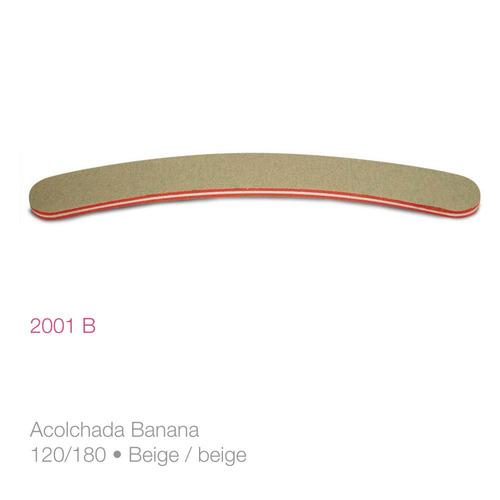 pack x 6 un. lima para uñas acolchada banana 2001b raffinée