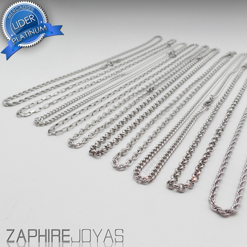 pack x10 cadenas surtidas medianas acero quirurgico por mayor
