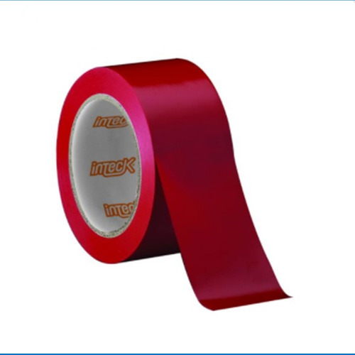 pack x10 cinta aisladora 10m rojo inteck by macroled cable