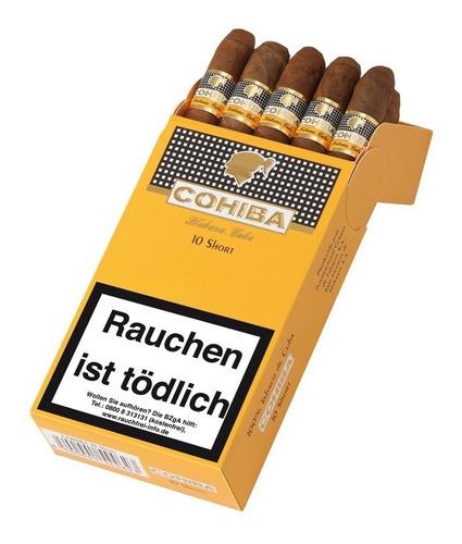 pack x10 cohiba short habanos puritos fumar cigarros cubanos