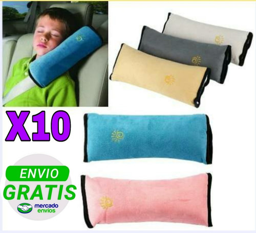pack x10 cojín cinturón para niños.  envío gratis