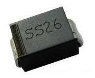 pack x10 diodo rectificador 2a 60 v do-214ac ss26 smd
