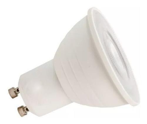 pack x10 lampara dicroica led 7w 220v gu10 calido frio 120°