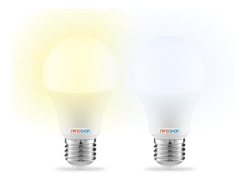 pack x10 lampara led 220v 10w 9w = 75w e27 vida util 25000hs iluminacion foco cocina baño