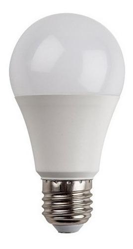 pack x10 lampara led bulbo 10w 9w = 75w e27 frio calido