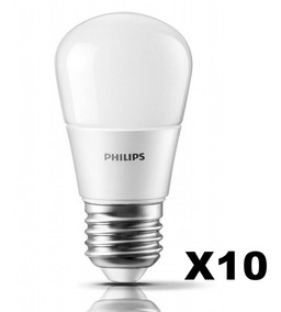 Pack X10 Lampara Philips Luz Gota Led Calida 4w40w E27 N8nPw0kOX
