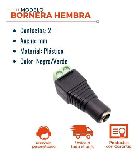 pack x10 pares plug macho + hembra bornera conector camaras