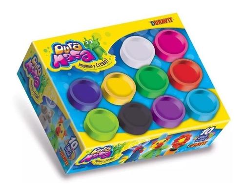 pack x10 potes masas muchos colores duravit 709 diverti toys