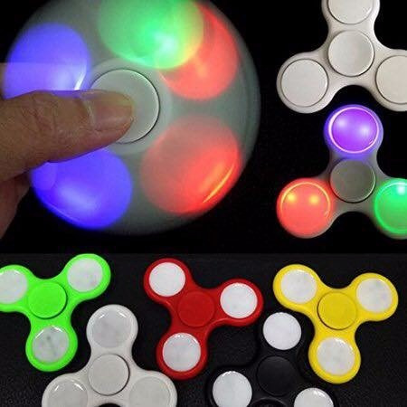 pack x10 unid. fidget spinner hand luz led