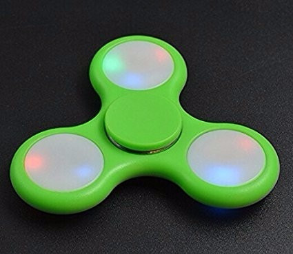 pack x10 unid. fidget spinner hand luz led envio gratis!!
