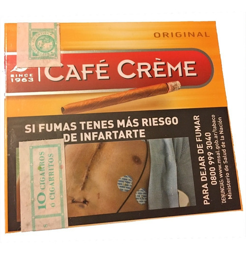 pack x100 cafe creme original puritos habano cigarro puros