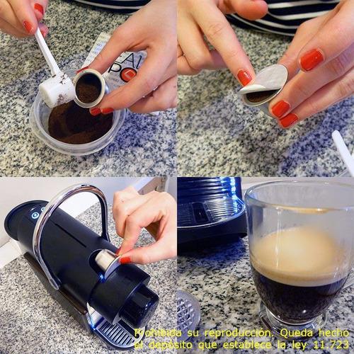 pack x100 tapas para capsula recargable nespresso sealpod