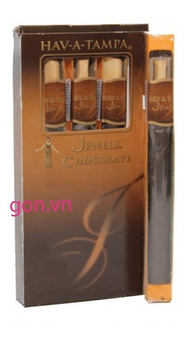 pack x15 cigarros jewels tampa chocolate tabaco habano puro