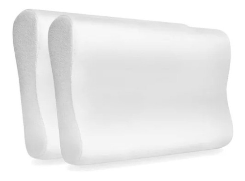 pack x2 almohada viscoelastica cervical inteligente funda