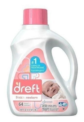 pack x2 detergente hipoalergénico bebé dreft 2,94 lt/ 64 lav