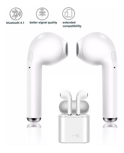 pack x2. i7s auricular inalámbrico bluetooth 5,0