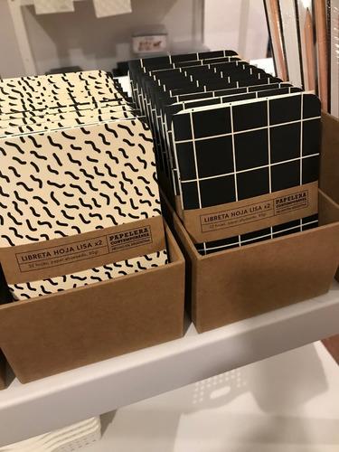 pack x2 libretas lisas 10x15 modelo grilla