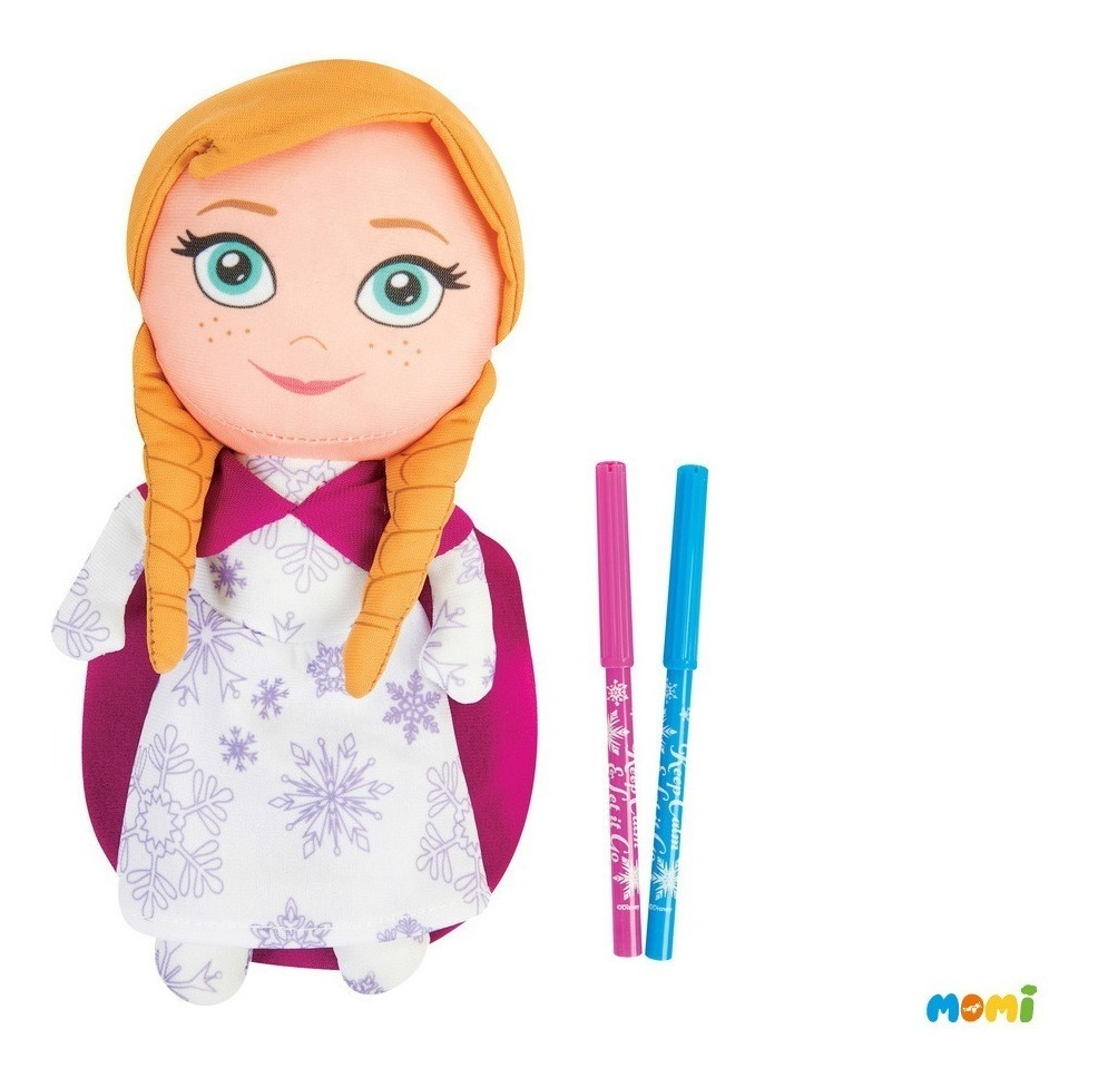 Pack X2 Muñecas De Frozen Para Pintar Anna Y Elsa Disney