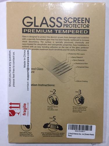 pack x2 protectores vidrio templado premium pantalla switch