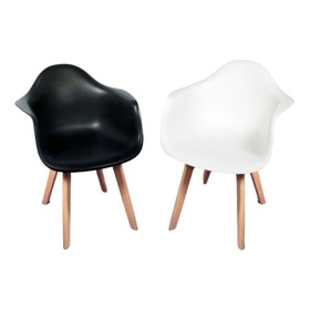 Pack X2 Sillones New Tulip Eames Pata De Madera Con Envio