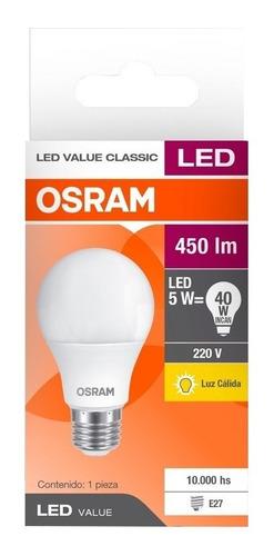 pack x20 lámpara led classic 5w=40w luz fria osram - e. a.