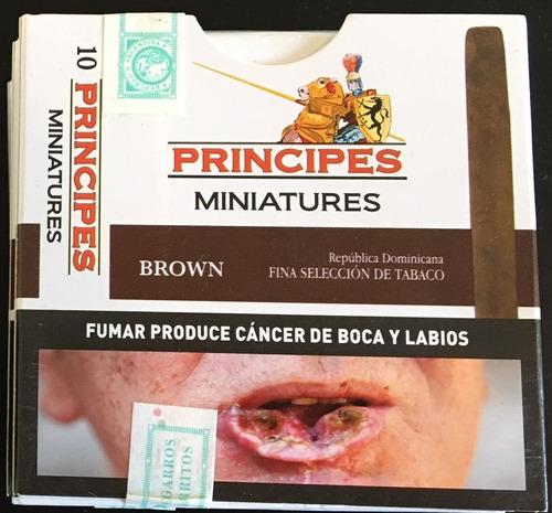 pack x3 cigarros principes mini brown chocolate caja habano