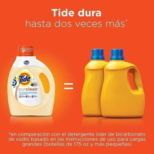 pack x3 detergente tide ecofriendly purclean 1.47 lt/32 lav