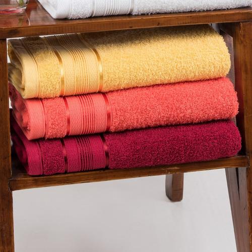 pack x3 juego toalla y toallón fantasia 100% algodón colores