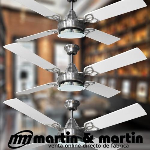 pack x3 ventilador martin & martin ocean plafón led platil