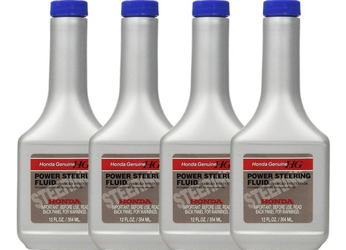 pack x4 aceite power steering fluid honda original 354ml