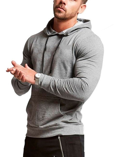 pack x4 buzo canguro capucha hombre slim fit hoodie camperas