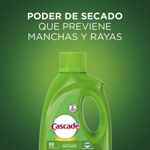 pack x4 detergente lavavajillas cascade gel fresh 2,12 lts.