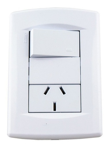 pack x4 llave de luz punto y toma interruptor tecla 10a sica