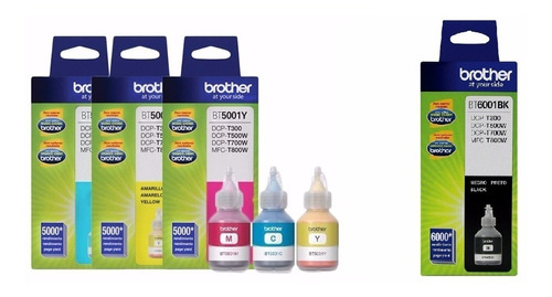 pack x4 tinta brother original t300 t500 t700