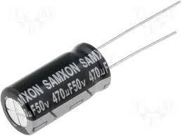 pack x5 unidades condensador 470 uf 50 v 105 c 10 mm x 17 mm